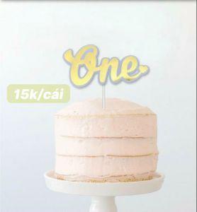 Cake topper chữ One