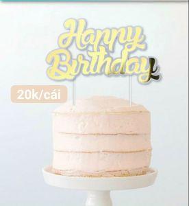 Cake topper chữ Happy Birthday