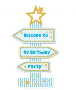 Cây Welcome To My Birthday Party (có 3 màu)