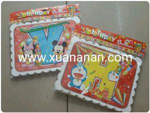 Dây chữ Happy Birthday mẫu hoạt hình Disney