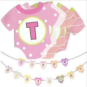 Dây chữ Happy Birthday mẫu áo baby