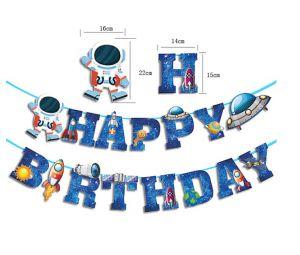 Dây chữ happy birthday chủ đề Phi hành gia