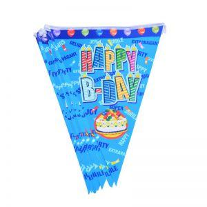 Dây cờ Happy B-day xanh