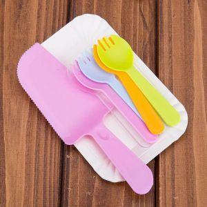 Set dao nĩa đĩa ăn bánh sinh nhật