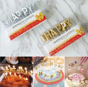 Nến happy birthday nhũ chữ rời (vàng/bạc/xanh/hồng tím)