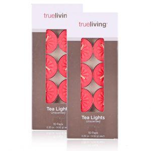 Vỉ 10v nến tealight bông mai màu đỏ 3,5cm
