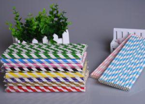 Ống hút giấy sọc màu (có nhiều màu)