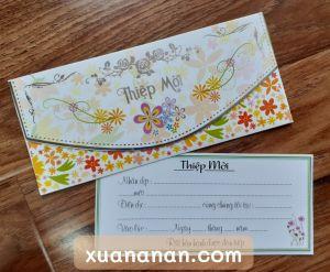 Set 5 thiệp mời sinh nhật/đầy tháng/tiệc gia đình