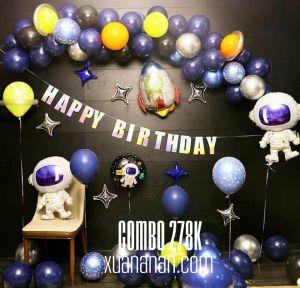 Combo trang trí sinh nhật chủ đề Phi Hành Gia [278K]