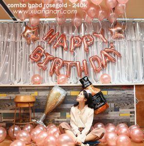 Combo trang trí sinh nhật tông màu Rosegold [240K]