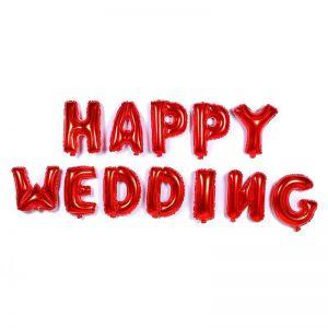 Set bong bóng kiếng chữ Happy Wedding (có 6 màu)