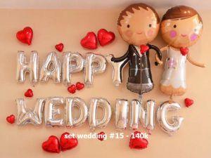 Set wedding #15 bong bóng kiếng trang trí 27 món