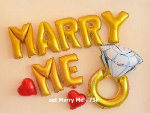 Set Marry Me bong bóng kiếng trang trí 10 món
