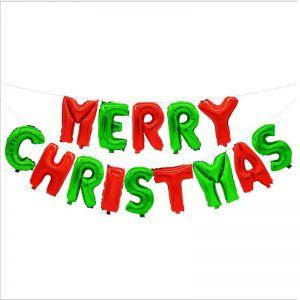 Set bong bóng kiếng chữ Merry Christmas (có 3 màu)