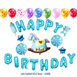 Set bong bóng kiếng trang trí sinh nhật #12 boy