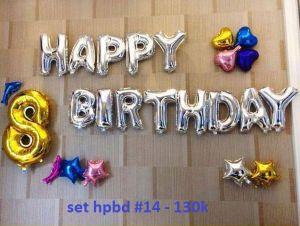 Set bong bóng kiếng trang trí sinh nhật #14