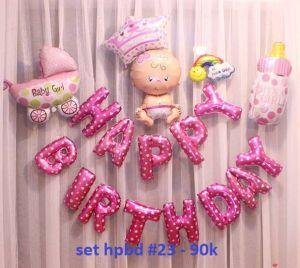 Set bong bóng kiếng trang trí sinh nhật #23