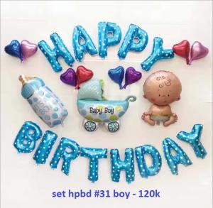 Set bong bóng kiếng trang trí sinh nhật #31 boy