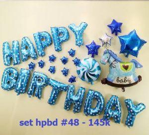 Set bong bóng kiếng trang trí sinh nhật #48 (boy/girl)