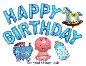Set bong bóng kiếng trang trí sinh nhật #5 boy