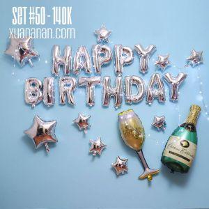 Set bong bóng kiếng trang trí sinh nhật #50