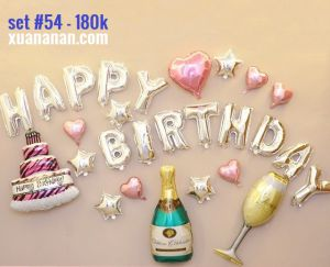 Set bong bóng kiếng trang trí sinh nhật #54