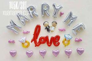 Set bong bóng kiếng trang trí Marry Me 145k