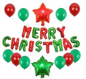 Set bong bóng kiếng Merry Christmas #4 *tặng keo dán