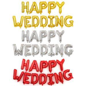 Set bong bóng kiếng chữ Happy Wedding (có 3 màu)