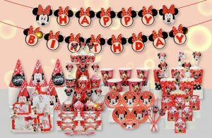 Set trang trí sinh nhật Minnie đỏ