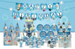 Set trang trí sinh nhật Elsa *tặng 20 bb nhũ xanh