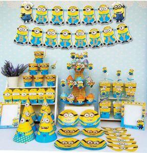 Set trang trí sinh nhật Minion*tặng bbk hình Minion