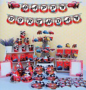 Set trang trí sinh nhật mẫu Xe hơi *tặng 20 bong bóng nhũ đỏ trắng 25cm