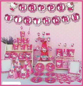 Set trang trí sinh nhật Hello Kitty *tặng 1 bbk hình Kitty 80cm