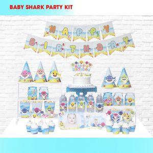 Set trang trí sinh nhật BabyShark *tặng 10 bb macaron 25cm