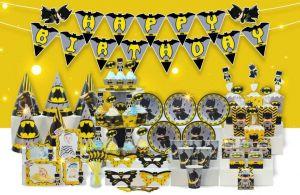 Set trang trí sinh nhật Batman *tặng 20 bong bóng nhũ vàng