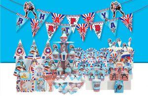 Set trang trí sinh nhật Captain American