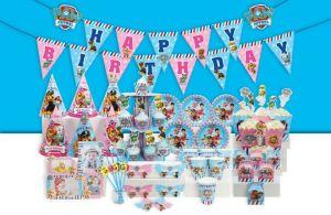 Set trang trí sinh nhật Các chú chó cứu hộ *tặng 20 bong bóng nhũ xanh