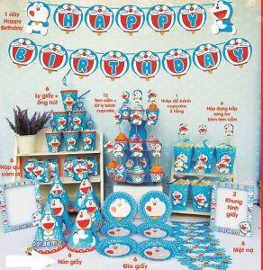 Set trang trí sinh nhật Doraemon *tặng bbk hình Doraemon