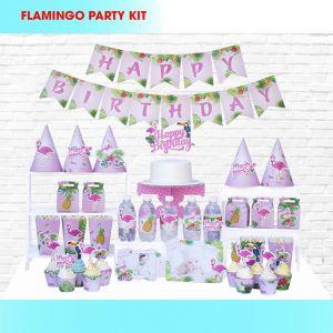 Set trang trí sinh nhật Flamingo *tặng 10 bb macaron 25cm