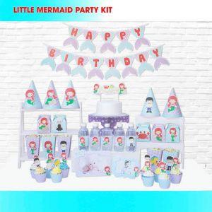 Set trang trí sinh nhật Little Mermaid