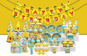 Set trang trí sinh nhật Pokemon *tặng 20 bong bóng nhũ vàng