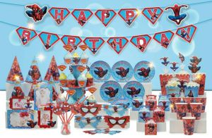 Set trang trí sinh nhật Spiderman *tặng bong bóng kiếng Spiderman 77cm