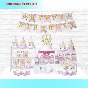 Set trang trí sinh nhật Unicorn