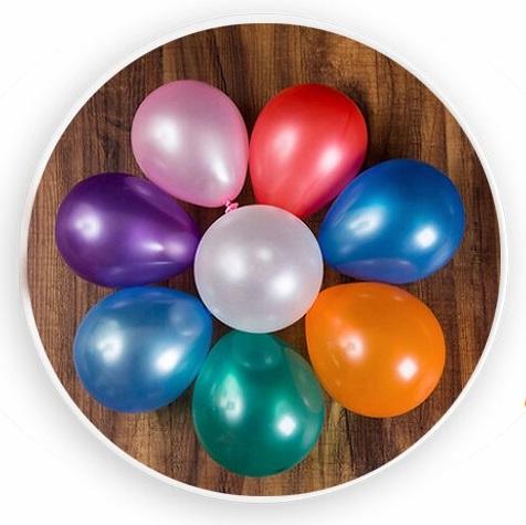Set 50 cái bong bóng tròn nhũ mini 12.5cm (12 màu)