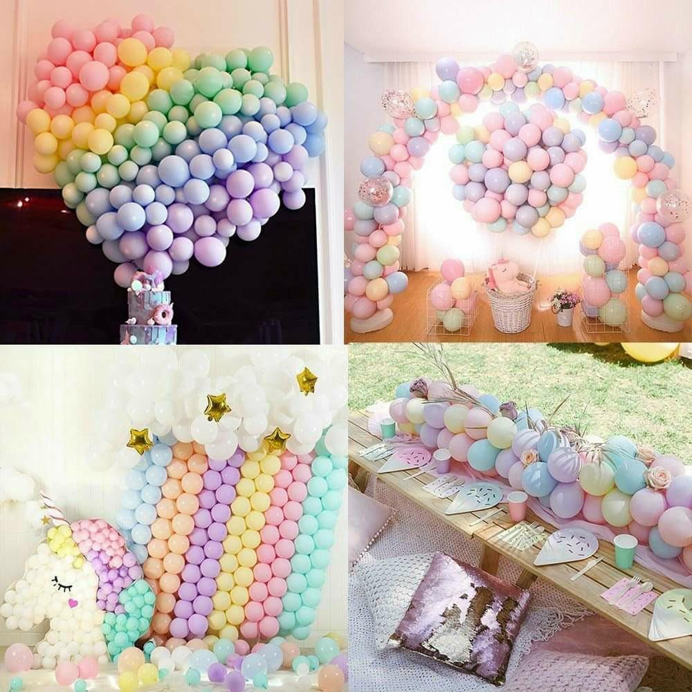 Set 50 bong bóng tròn pastel mini 12,5cm (12 màu)