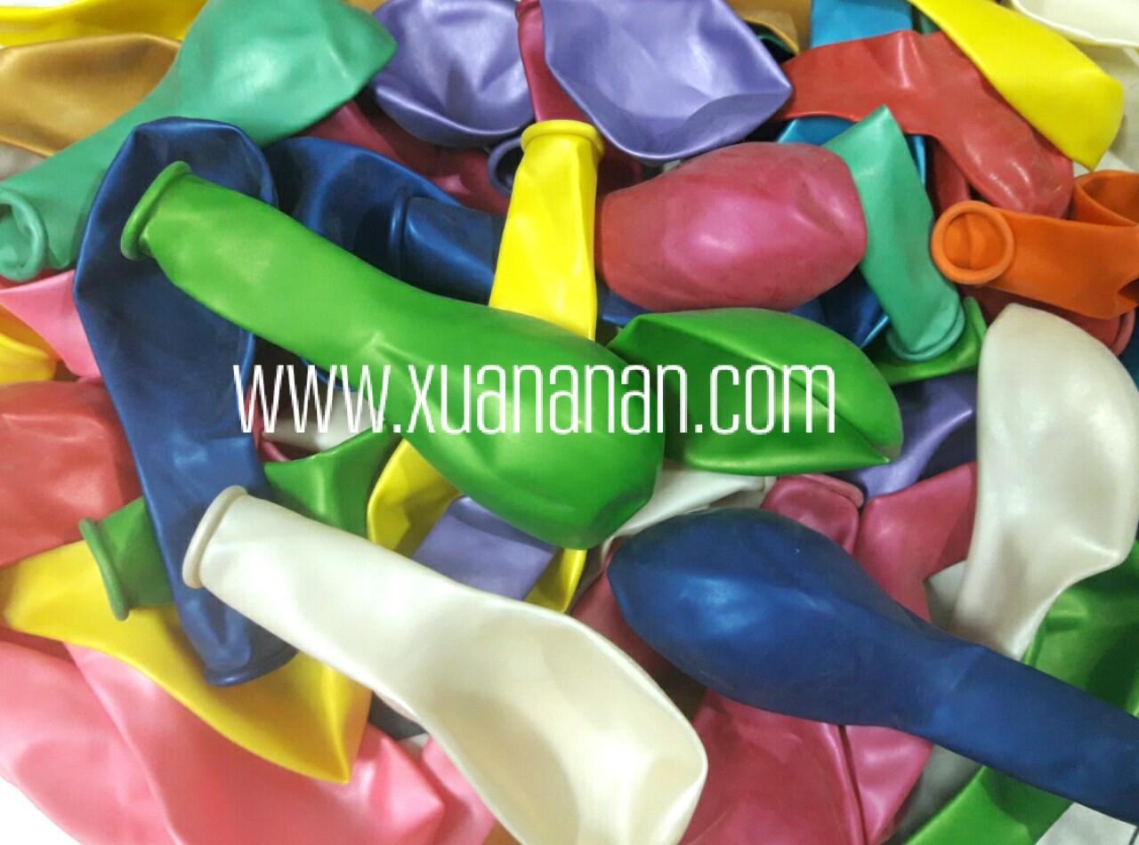 Bịch 50 bong bóng tròn nhũ Thái 25cm (có đủ màu)