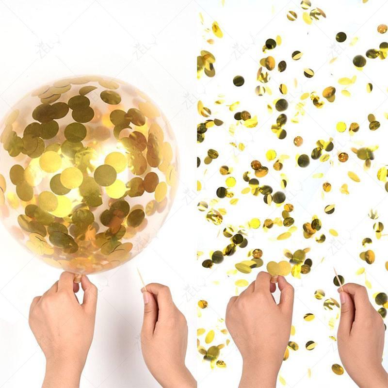 Kim tuyến tròn 1cm ánh kim gói 50gr (vàng/bạc)