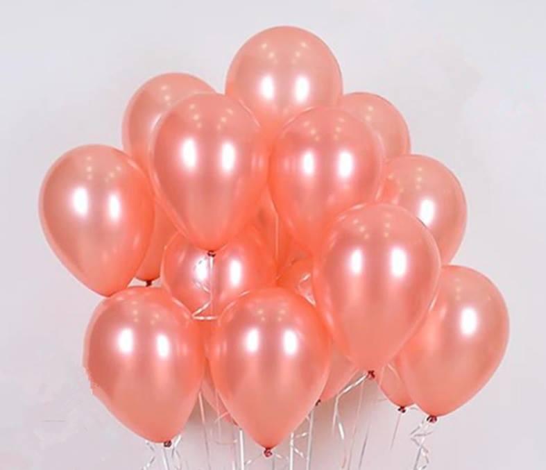 Set 10 bong bóng nhũ màu Rosegold 30cm