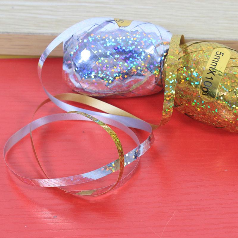 Cuộn dây ruy băng ánh kim 5mmx10m (vàng/bạc/rosegold)